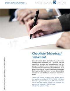 Checkliste Erbvertrag 1